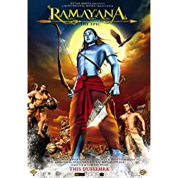 Ramayana - The Epic (Mythological,  Animated Hindi Film / Bollywood Movie / Indian Cinema DVD)