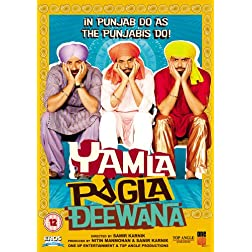Yamla Pagla Deewana Bollywood DVD With English Subtitles
