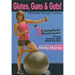 Mindy Mylrea: Glutes Guns & Guts Workout