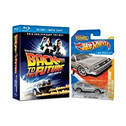 Back to the Future Trilogy with Hot Wheels Back to the Future Time Machine [Blu-ray]