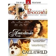 Pinocchio / Anastasia / Call of the Wild - Triple Feature