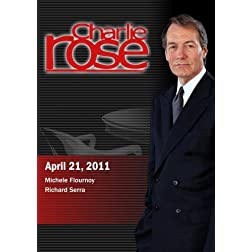 Charlie Rose - Michele Flournoy / Richard Serra  (April 21, 2011)