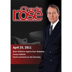 Charlie Rose - Brian Williams / Lynsey Addario / David Leonhardt (April 29, 2011)