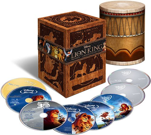 The Lion King Trilogy (Eight-Disc Combo: Blu-ray 3D / Blu-ray / DVD / Digital Copy)