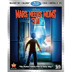 Mars Needs Moms (Four-Disc Blu-ray 3D / Blu-ray / DVD / Digital Copy Combo)