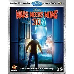 Mars Needs Moms (Four-Disc Blu-ray 3D / Blu-ray / DVD / Digital Copy Combo)