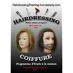 V3L2 - Men's basic cut -complete home study program in hairdressing