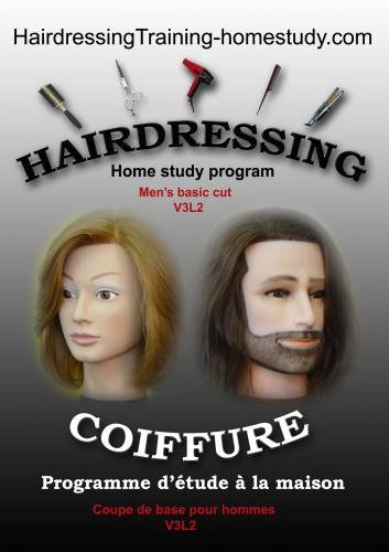 V3L2 - Men's basic cut -complete home study program in hairdressing
