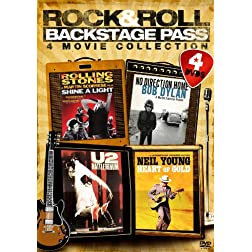 Rock & Roll Backstage Pass: Four-Movie Collection (U2: Rattle & Hum / Bob Dylan: No Direction Home / Rolling Stones: Shine a Light / Neil Young: Heart of Gold)