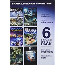 6-Movie Pack: Sharks Piranhas & Monsters