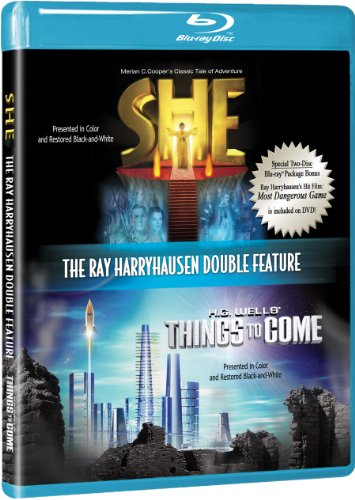 Ray Harryhausen Double Feature [Blu-ray] with She and Things to Come w/ BONUS DVD The Most Dangerous Game