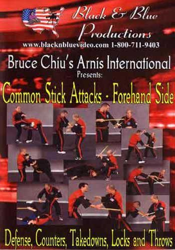 Bruce Chiu's Arnis International Arnis Common Stick Attacks - Forehand Side