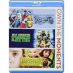 Robots/Aliens in the Attic/Arthur & Invisibles 2&3 [Blu-ray]