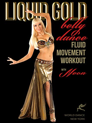 Liquid Gold - Bellydance Fluid Moves Workout with Neon :: beginner-intermediate level belly dance